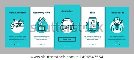 singing song elements vector onboarding stock photo © pikepicture