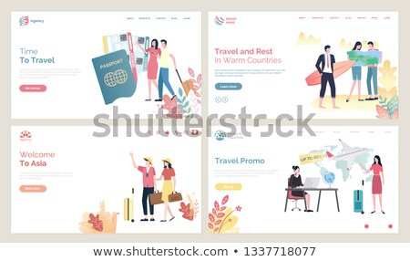 Online Agency, Time to Travel, Passport Vector Stock photo © robuart
