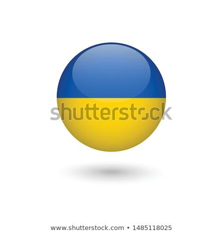 Ukrajna zászló fehér terv háttér nyomtatott Stock fotó © butenkow
