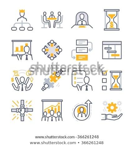Iconos negocios proceso trabajo en equipo reunión Foto stock © Pixel_hunter