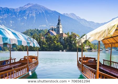 Tradizionale legno barche lago Slovenia acqua Foto d'archivio © smuki