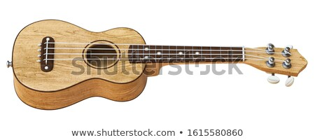 Wooden traditional soprano ukulele Side view 3D Stock photo © djmilic