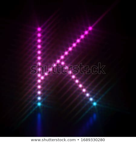 Pink blue dot light font Letter K 3D Stock photo © djmilic