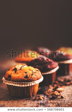 Chocolate Cupcake or Muffin with Choco Decoration Stock photo © robuart