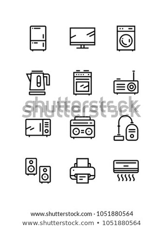 Household electronic appliances, technics, gadget device icons for web and mobile design pack 2 Stock photo © karetniy