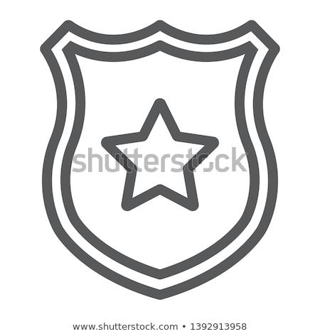 Policía placa icono vector ilustración Foto stock © pikepicture