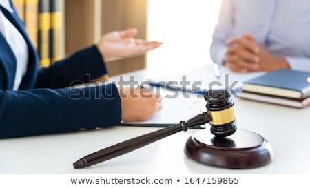 Vrouwelijke advocaat uitleggen juridische situatie bespreken Stockfoto © snowing