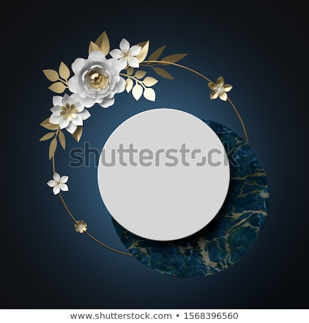 White peony flower as abstract floral background for holiday branding Stock photo © Anneleven