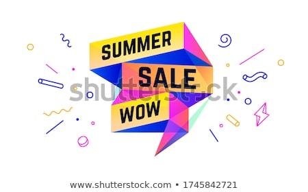 Zomer verkoop 3D banner tekst wow Stockfoto © FoxysGraphic