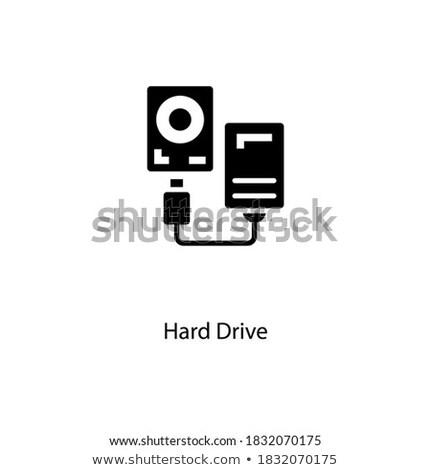 External hard drive concept landing page. Stock photo © RAStudio