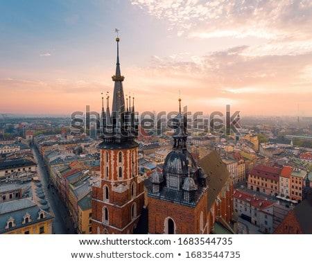 Rua cracóvia Polônia histórico casas cidade velha Foto stock © borisb17