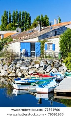 saline, Port des Salines, Oleron Island, Poitou-Charentes, Franc Stock photo © phbcz