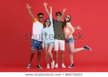 women posing for picture on the beach Stock photo © photography33