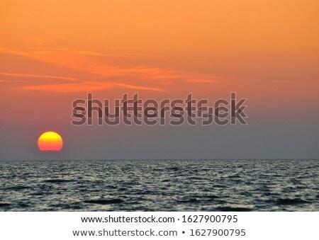 zonsondergang · zee · hemel · zomer · zonsopgang · Rood - stockfoto © wjarek