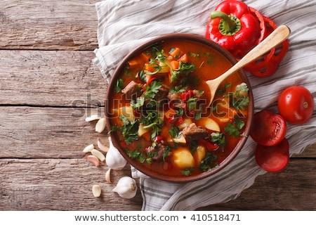 sopa · centeno · pan · puerro · húngaro · cena - foto stock © joker