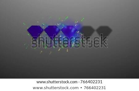 Mavi üç değerli elmas örnek Stok fotoğraf © yurkina