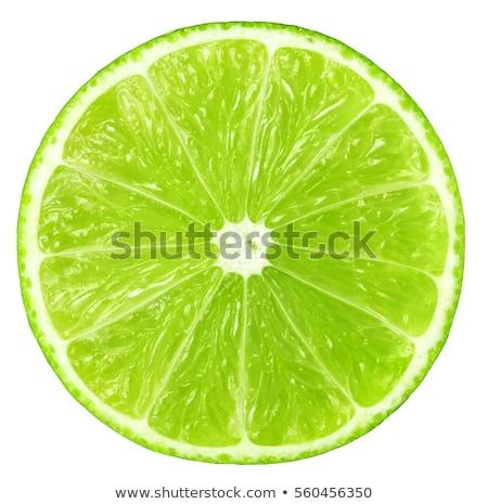 Tele friss citrus zöld levelek fehér közelkép Stock fotó © boroda