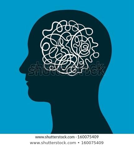 férfi · fej · agy · kábel · bonyolultság · emberi - stock fotó © adrian_n