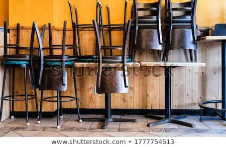 Asztal székek étterem étel szék kávézó Stock fotó © bmonteny