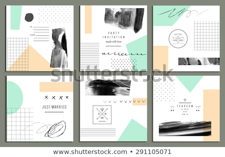 klasszikus · scrapbook · alkotóelem · retro · kártya · szeretet - stock fotó © bluelela