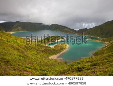 sombras · lago · belo · alto · montanhas - foto stock © capturelight