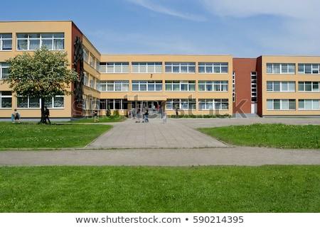 高校 · 建物 · ベクトル · スタイル · デザイン · 公共 - ストックフォト © smeagorl