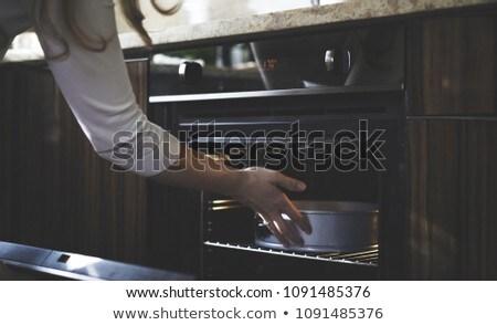 Sütő étel háttér művészet gép szakács Stock fotó © bluering