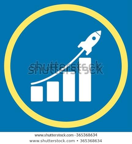 Startup eladó citromsárga szín ikon szimbólum Stock fotó © ahasoft