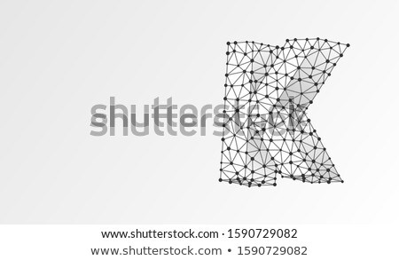3d abstract style logo with letter K Stock photo © SArts