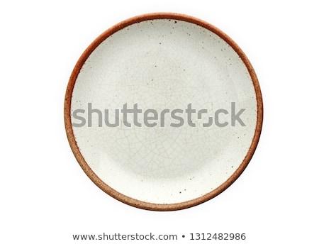 cerâmico · prato · fundo · branco · apresentar - foto stock © digifoodstock