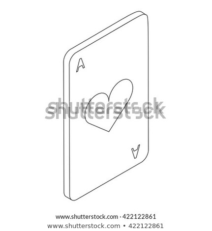 ás corações ícone isométrica 3D estilo Foto stock © ylivdesign
