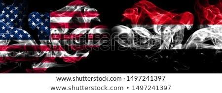 футбола пламя флаг Йемен черный 3d иллюстрации Сток-фото © MikhailMishchenko