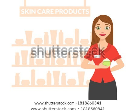 cosmético · vidro · bandeira · vetor · garrafa · cara - foto stock © vectorikart