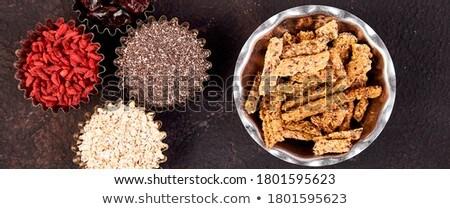 Various superfoods in small bowl near granola  Stock photo © Illia