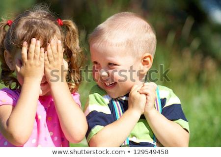 Mutlu çocuklar kardeş kız kardeş Stok fotoğraf © Lopolo