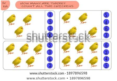 counting and adding task with cartoon farm animals Stock photo © izakowski