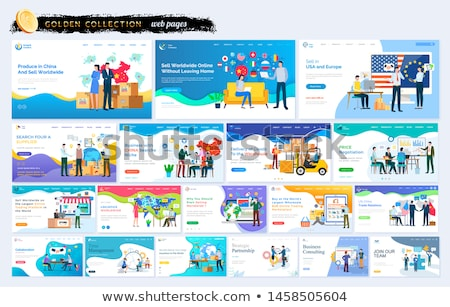 Sell in USA and Europe Partnership Business Web Stock photo © robuart