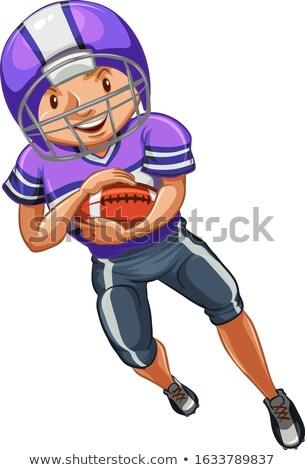 選手 ラグビー 白 実例 男 背景 ストックフォト © bluering