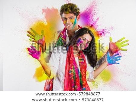 indian happy holi celebration wishes festival background Stock photo © SArts
