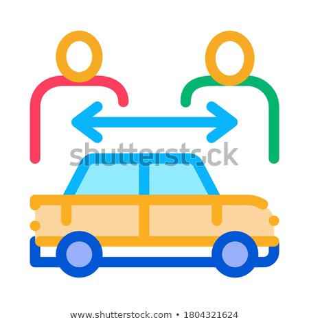 two buyers per car icon vector outline illustration Stock photo © pikepicture