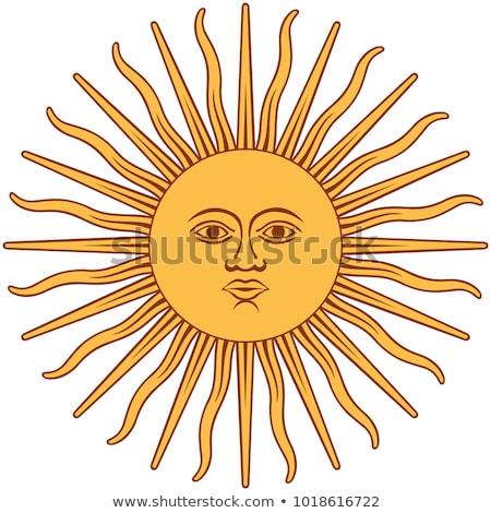 Argentinien Flagge weiß Liebe Herz Hintergrund Stock foto © butenkow