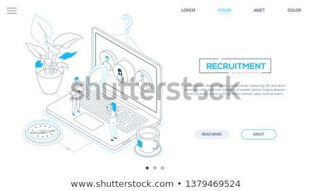 Menschlichen Ressourcen modernen farbenreich Web Stock foto © Decorwithme