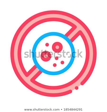 Verbod icon vector schets illustratie teken Stockfoto © pikepicture