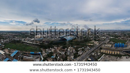 Fire in city on a industrial factory Stock photo © vapi