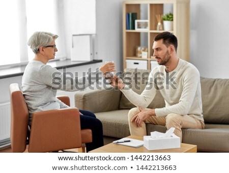 Senior psicólogo água homem paciente psicologia Foto stock © dolgachov