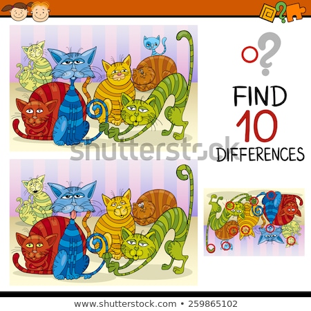 differences educational game with cats group Stock photo © izakowski