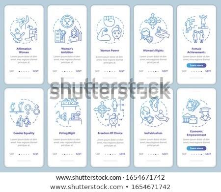 Traditioneel geslacht sociale app interface sjabloon Stockfoto © RAStudio