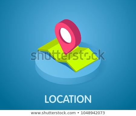 Gps Mark Location isometric icon vector illustration Stock photo © pikepicture