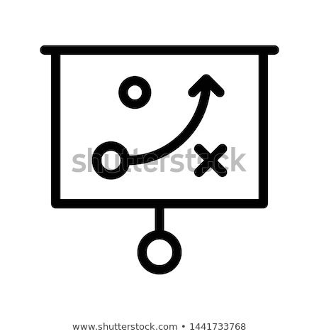 Investment strategy planning flat vector illustration Stock photo © RAStudio