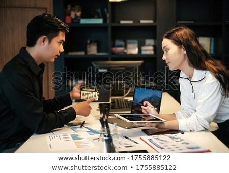 retrato · equipo · planificación · oficina · negocios · hombre - foto stock © HASLOO